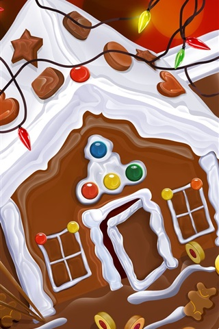 iPhone 배경 화면 크리스마스 초콜릿 케이크