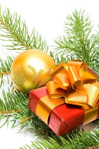 iPhone 배경 화면 크리스마스 장식과 선물