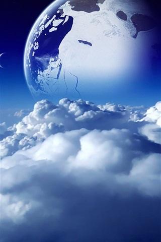 iPhone 배경 화면 이 행성의 구름이 아름답다