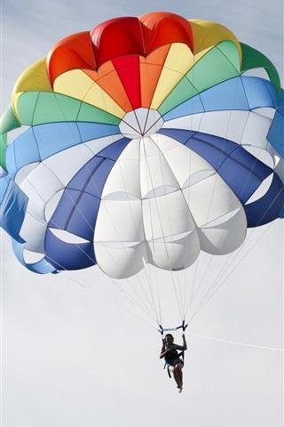 iPhone 배경 화면 다채로운 낙하산