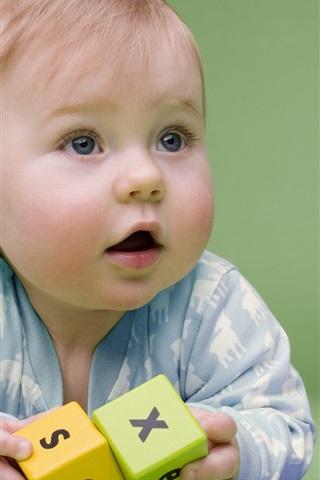 iPhone Papéis de Parede Fotografia bebê bonito e divertido
