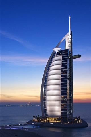 iPhone 배경 화면 두바이 호텔 Burj 알 아랍