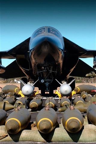 iPhone 배경 화면 F - 111 폭격기 무기 폭탄 비행기