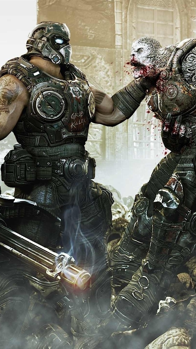 Gears Of War 3 Hd 750x1334 Iphone 8766s Wallpaper Background
