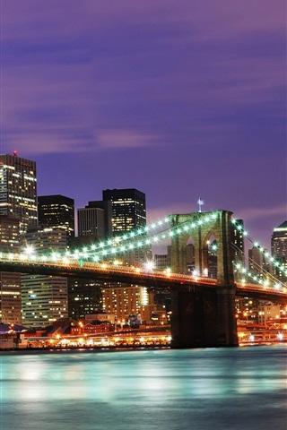 iPhone 배경 화면 미국 뉴욕시 밤