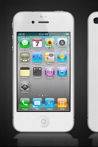 iPhone 배경 화면 아이폰 4S 화이트
