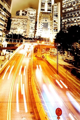 iPhone 배경 화면 Ambilight 도시 도로