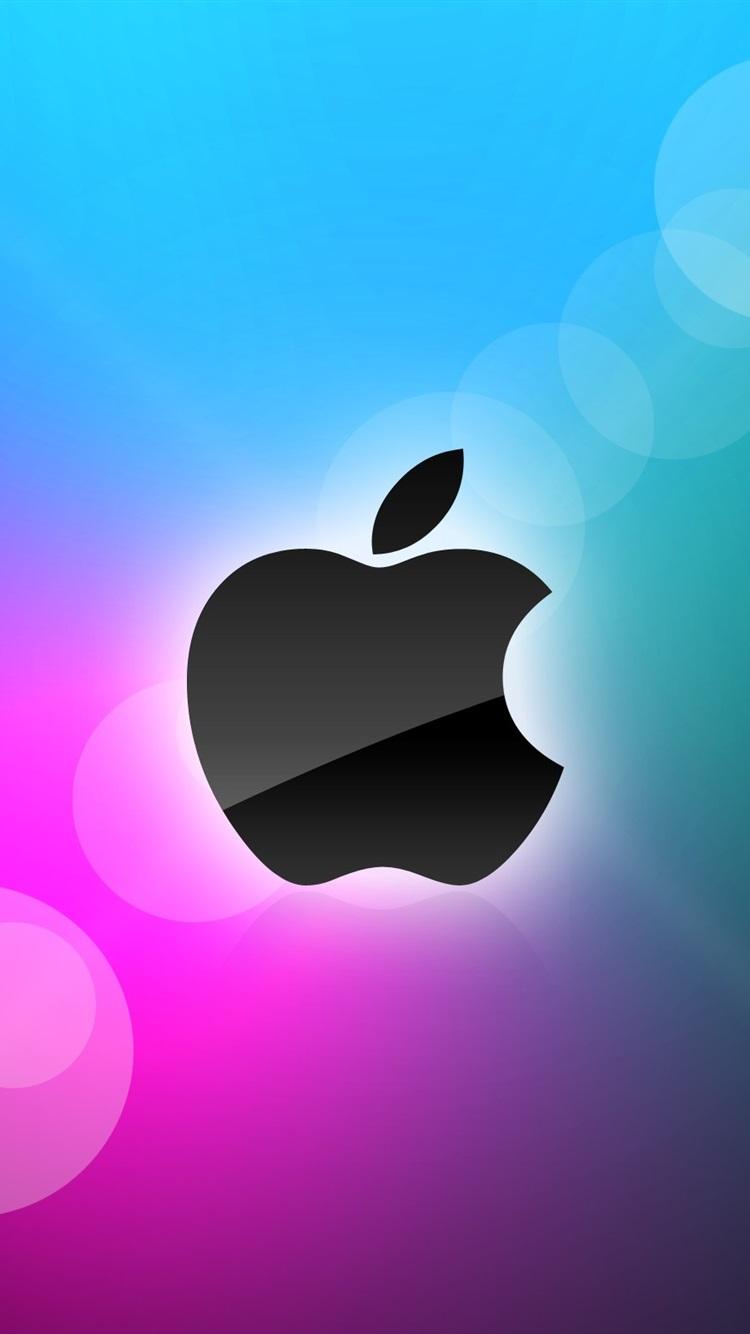 アップル 青と紫の背景 750x1334 Iphone 8 7 6 6s 壁紙 背景 画像