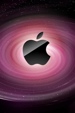 iPhone 배경 화면 애플 보라색의 소용돌이
