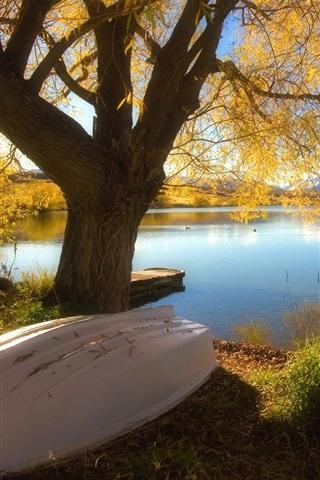 iPhone 배경 화면 호수의 아름다운 가을
