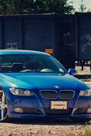 iPhone 배경 화면 BMW 파란색 자동차