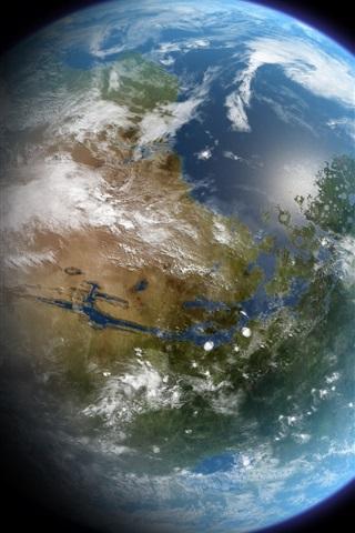 iPhone 배경 화면 클로즈업 아름다운 푸른 지구