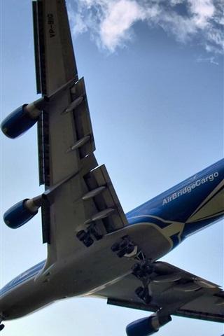 iPhone 배경 화면 보잉 747 비행기 구름