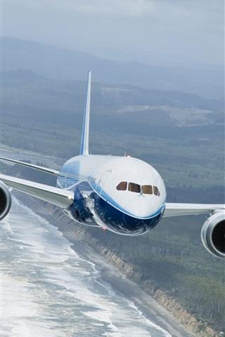 iPhone 배경 화면 보잉 787 비행 dreamliner