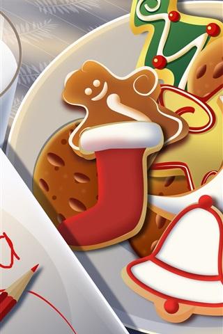iPhone Wallpaper Christmas dessert
