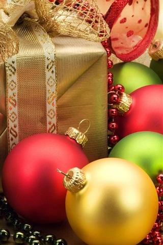 iPhone 배경 화면 크리스마스 장식과 크리스마스 선물