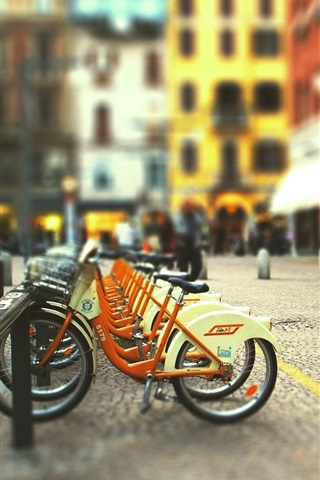 iPhone 배경 화면 시 도로 자전거 주차장