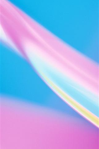 iPhone Обои Цвет розовый синий абстрактные