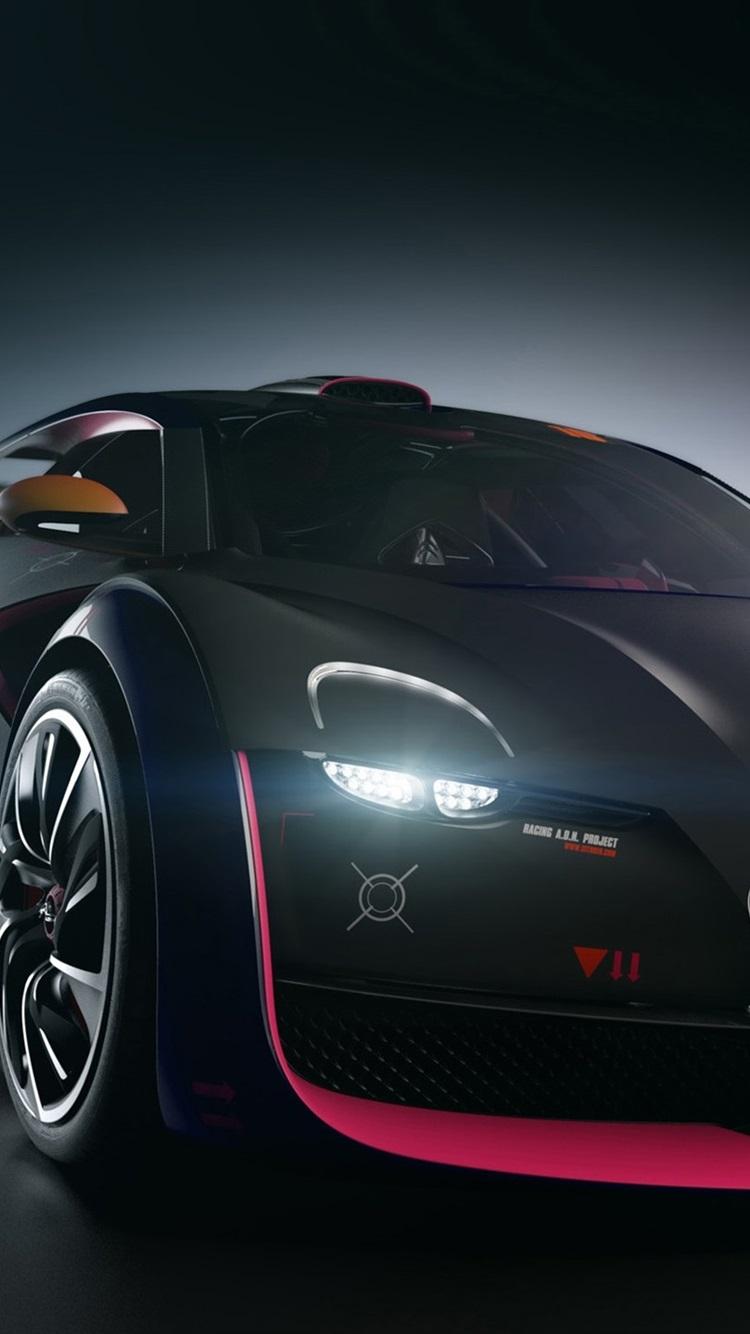 クールな黒のシトロエンの車 750x1334 Iphone 8 7 6 6s 壁紙 背景 画像