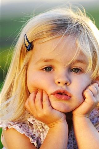 iPhone 배경 화면 귀여운 베이비 소녀