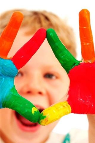 iPhone Papéis de Parede Bebê colorido bonito