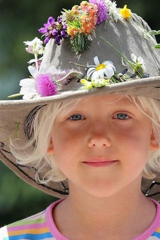 iPhone 배경 화면 귀여운 여자 모자 여름