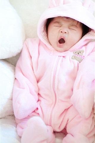 iPhone Papéis de Parede Bebê bocejando bonito