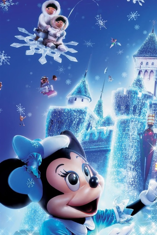 Disney Christmas Mickey Mouse 640x960 Iphone 4 4s Wallpaper Background Picture Image
