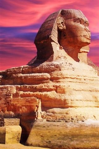 iPhone Wallpaper Egyptian Sphinx