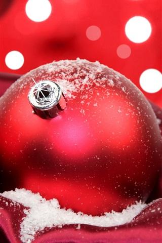 iPhone 배경 화면 축제 빨간색 크리스마스 공