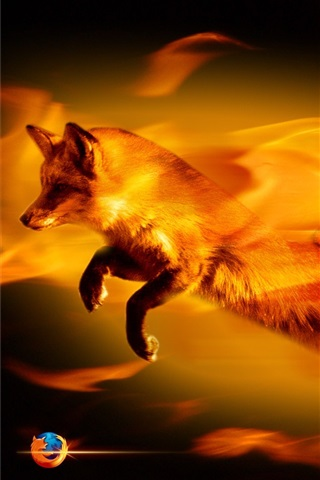 iPhone Papéis de Parede Firefox abstrata