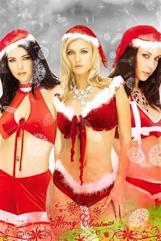 iPhone 배경 화면 다섯 크리스마스 소녀