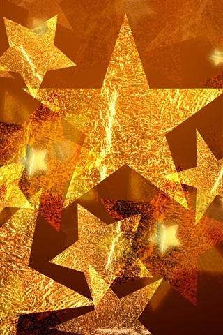 iPhone Обои Пятиконечная звезда Рождественские украшения