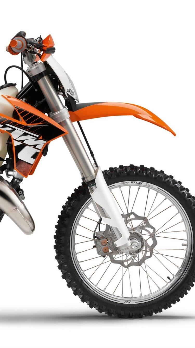 Ktmオフロード125 Excのオートバイ2012 750x1334 Iphone 8 7 6 6s 壁紙