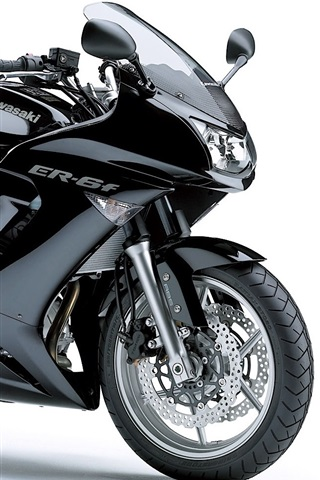 iPhone Wallpaper Kawasaki ER-6f motorcycle
