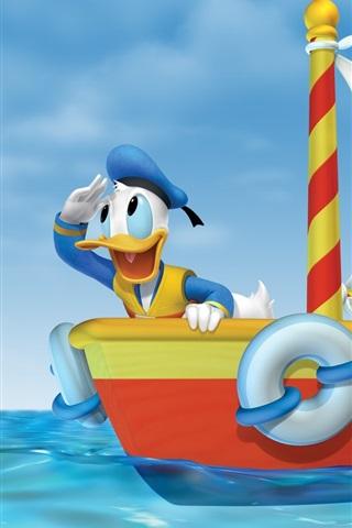 iPhone Wallpaper Mickey adventure at sea