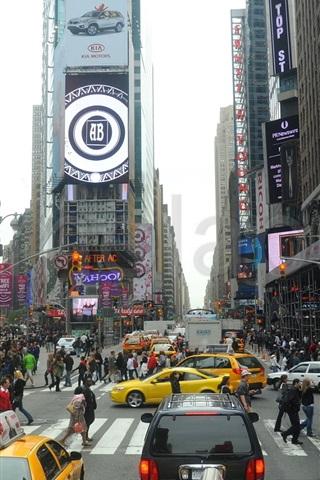 iPhone 배경 화면 뉴욕의 거리 사람