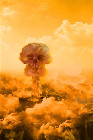 iPhone 배경 화면 핵 폭탄 버섯 구름
