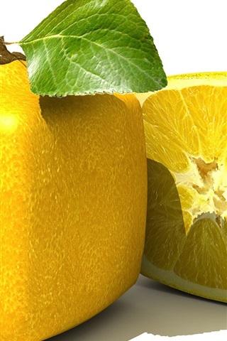 iPhone 배경 화면 사각형 레몬