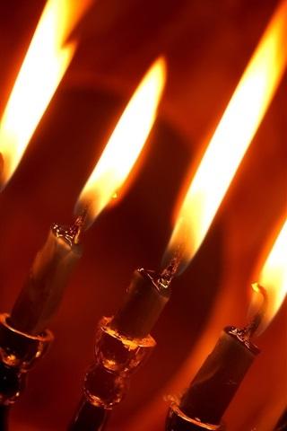 iPhone 배경 화면 레드 촛불