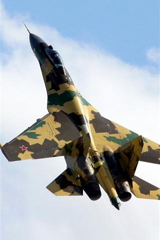 iPhone Wallpaper Russia Su-35 Camouflage fighter