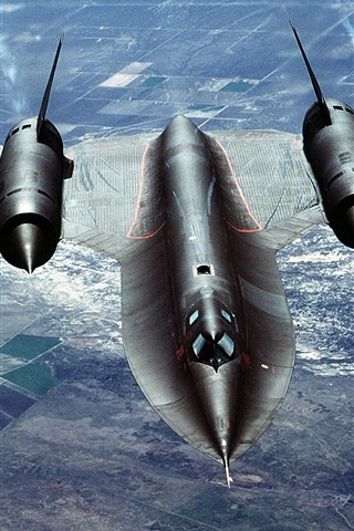 iPhone 배경 화면 SR - 71 블랙버드 비행 구름