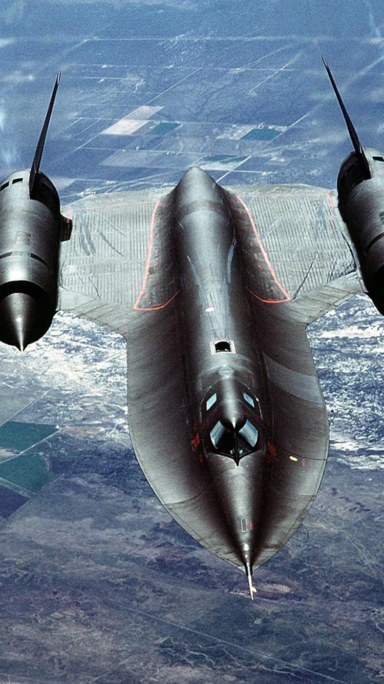 Sr 71 Blackbird Volando Nubes 750x1334 Iphone 8766s