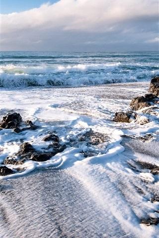 iPhone Wallpaper Shore sea waves