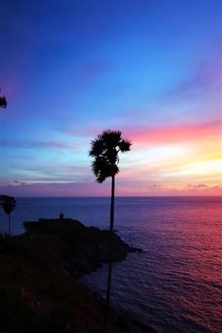 iPhone 배경 화면 태국 해변 아름다운 일몰