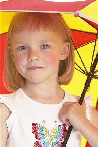 iPhone Papéis de Parede Guarda-chuva da menina bonito