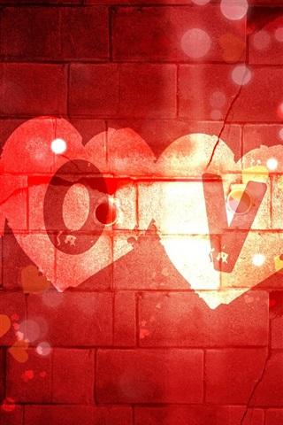 iPhone 배경 화면 발렌타인 데이는 벽에 쓰는 사랑