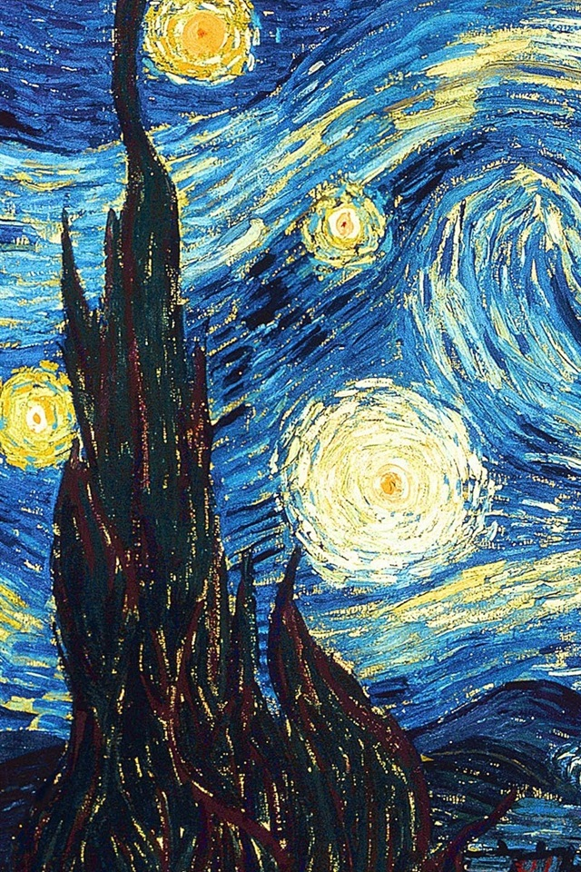 Fondos de pantalla Vincent van Gogh: Noche estrellada ...