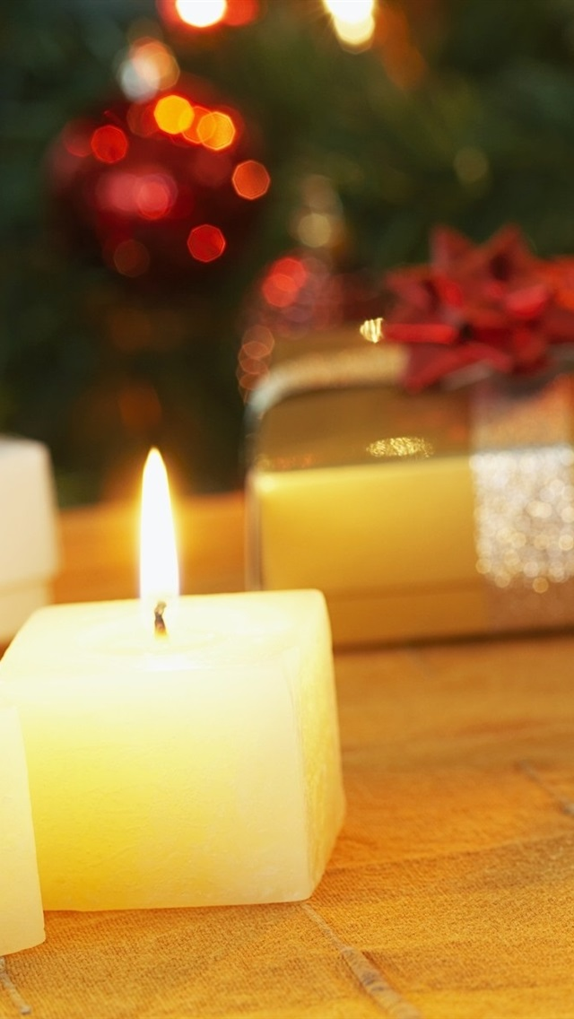 Wallpaper Christmas Candles And Gifts 1920x1200 Hd Picture