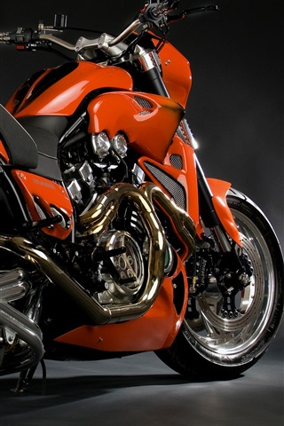 iPhone Wallpaper Cool red motorcycle close-up